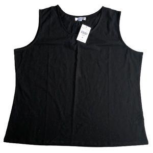 Northern Reflection sleeveless black top Petite